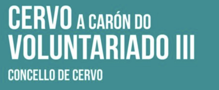 Nova edición do programa Cervo a Carón do Voluntariado
